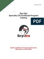 Spy-Ops Specialty CD Catalog - December 2007-Rev 1