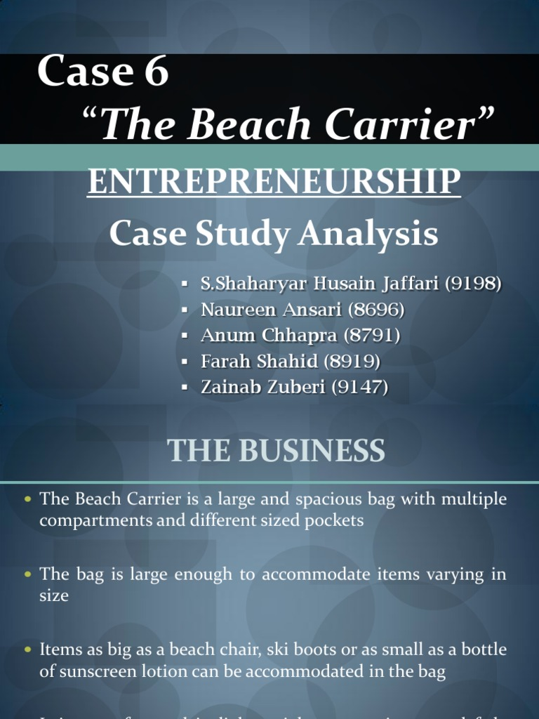 the beach carrier case study analysis