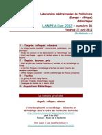 LAMPEA-Doc 2012 – numéro 16 / Vendredi 27 avril 2012