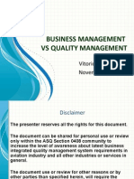 ASQ - Business Mgmt vs Quality Mgmt Pres 2011-11-22.Ppt
