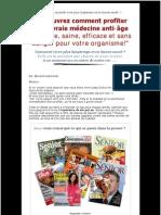 Découvrez la médecine naturelle anti-age