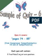 Sample Quiz 6