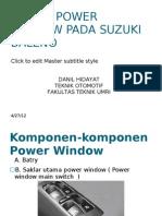 Sistem Power Window Pada Suzuki Baleno