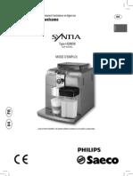 Cafetière syntia HD8838 - Mode d'emploi