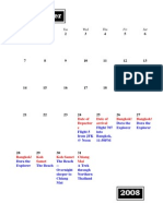 Thailand/Cambodia Traveling Schedule