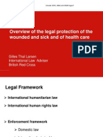 BRCS Legal Adviser Gilles Thal Larsen - Overview of legal protection of sick and wounded