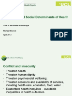 Sir Michael Marmot - Insecurity and Social Determinants of Health