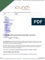8 claves para hacer presentaciones más útiles y atractivas - PymeCrunch