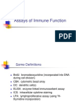 Immune Function Assays