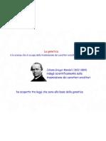 La Genetica Di Mendel