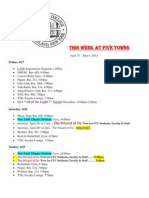 This Week at Five Towns. 4.27.12