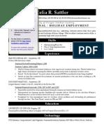 CV SAMPLE5