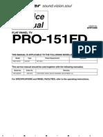 8938654-Pioneer Pro 151fd Flat Panel Tv Service Manual