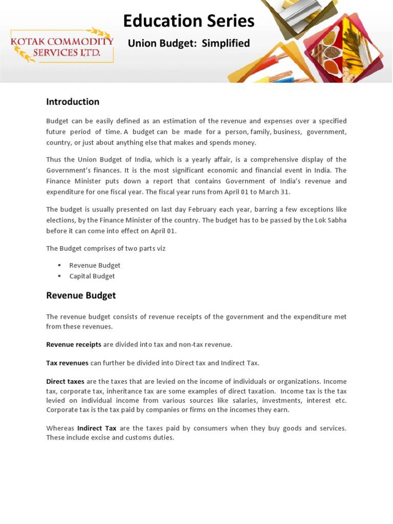revenue budget definition
