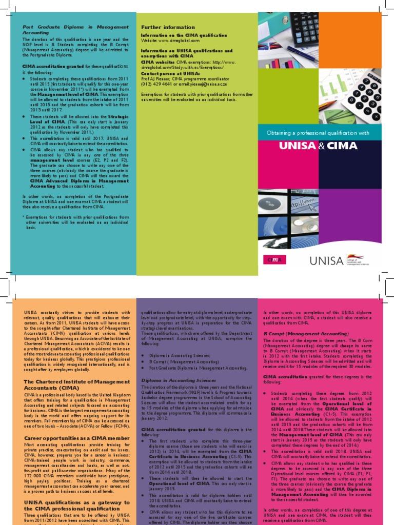 Cima Brochure | Diploma | Academic Degree