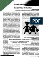 Igualdad de Genero y Educacion-coeducacion