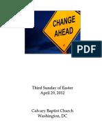 Bulletin, April 29, 2012