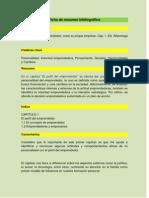 Ficha Cap. 1 y 2 Del Libro Emprendedor