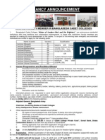 Join as Lecturer in Cadet College