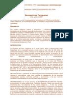 Declaración de Pachacamac (agosto de 2001 )