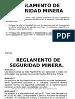 to de Seguridad Minera