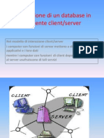 Database Distribuito e Client Server