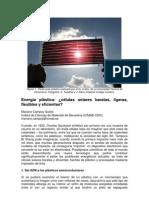 614_Células solares plásticas_Campoy Quiles 2009_submitted to ERA SOLAR
