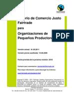fairtrade para pequeños productores