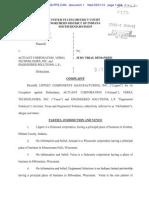 Complaint-Lippert v Actuant