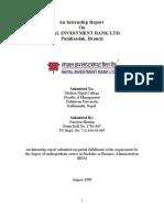 Internship at Nepal Investment Bank Limited