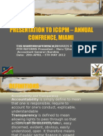 The Namibian Approach towards Modern PFM Reforms