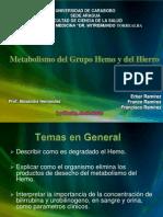 Degradacion Del Grupo Hemo y Del Hierro