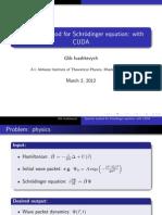 Spectral method for Schroedinger equation