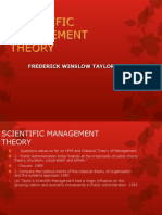 Taylor's Scientific Management Theory1