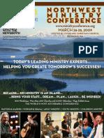 Northwest Ministry Conference Program 2009