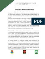 CAPITULO 5.Diagnóstico Técnico Operativo