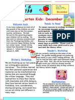 Kindergarten Newsletter December