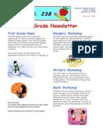 1st Grade December Newsletter