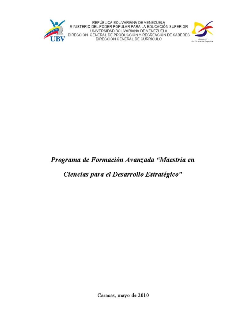 Programa de Maestria