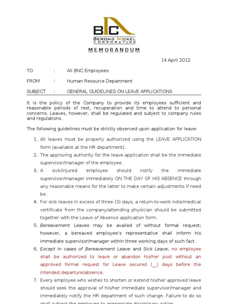 hr circular format for employees
