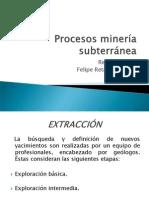 Procesos Mineria Subterranea Felipe Retamales Pozo