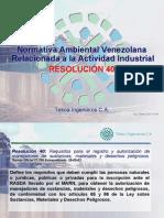 07 Normativa Ambiental Venezolana Res 40