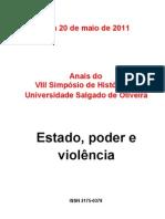 Anais do VIII Simpósio Universo - completo - Luciano Daniel de Souza