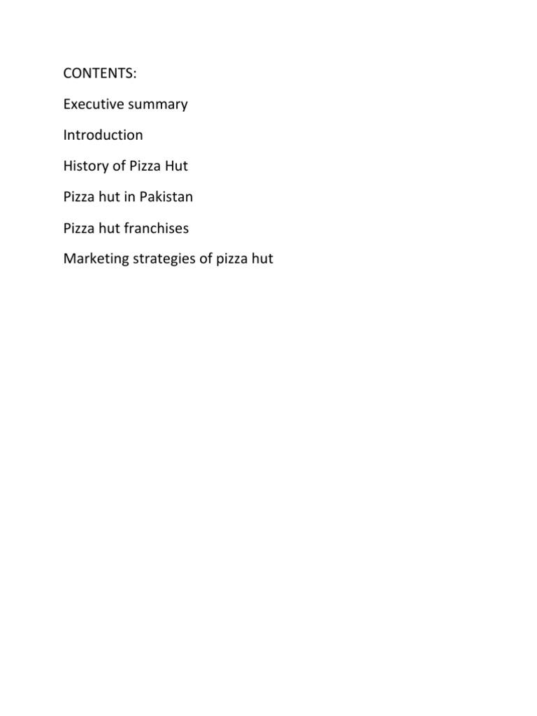 4 Ps Of Pizza Hut Marketing Communications Strategic Management