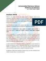 Herramienta DOFA PONDERADO Metodologias