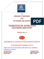Marketing Effectiveness of Reliance Communication Ltd.