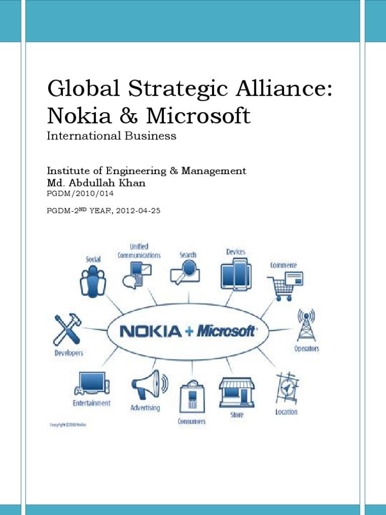 nokia and microsoft strategic alliance