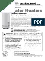 GE Water Heater Manual