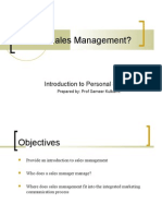 What is Sales Management