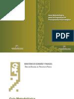 Guía Metodológica  para la Programación  Presupuestaria Estratégica